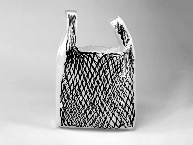 "Czech String Bag ""Síťovka"" photoshop use everyday bw sell art useful reusable bag plastic string sitovka"