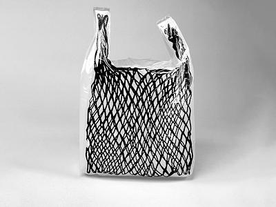 "Czech String Bag ""Síťovka"" design print simple blackandwhite artwork visual art seller buy photoshop use everyday bw sell art useful reusable bag plastic string sitovka"