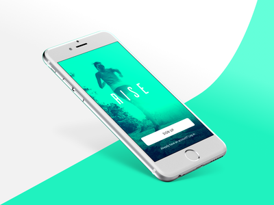 RISE Fitness App ios10 sleek group class training green ios mobile fitness rise