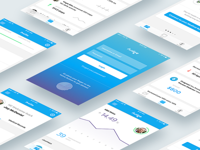 Nudge Mobile App wealth ux ui social nudge mobile ios investors health graph dashboard app