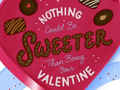 Nothing Could Be Sweeter procreate illustration hand lettering design