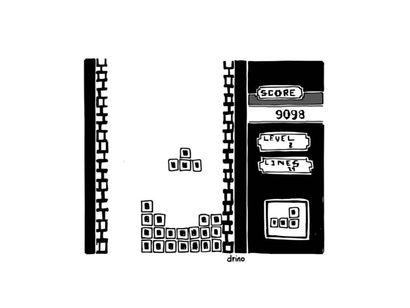 tetris illustration game 90s