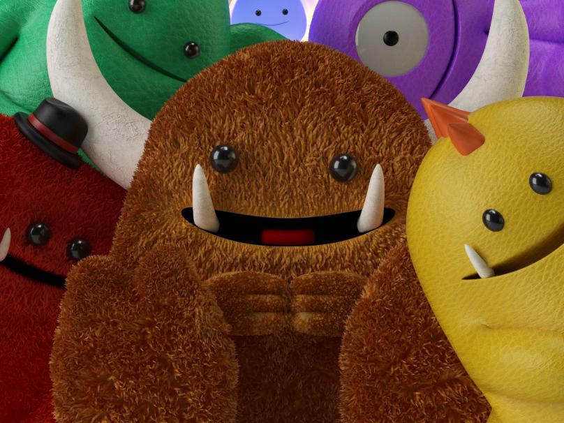 Gentle Monsters toy design c4d illustration