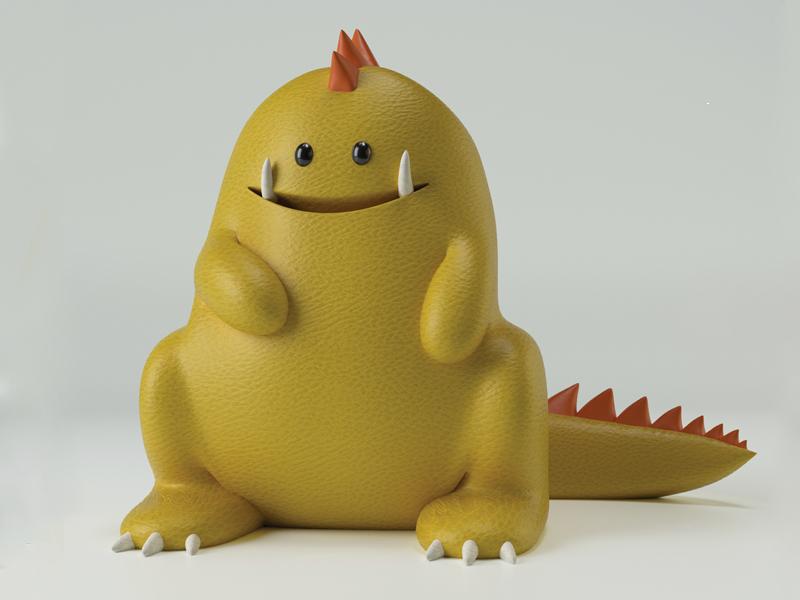 Dragon Josephlattimer cgi design toys model c4d yellow dragon