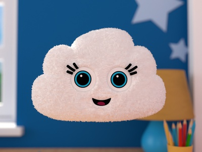 Cloud illustration 3d cinema 4d toy cloud design