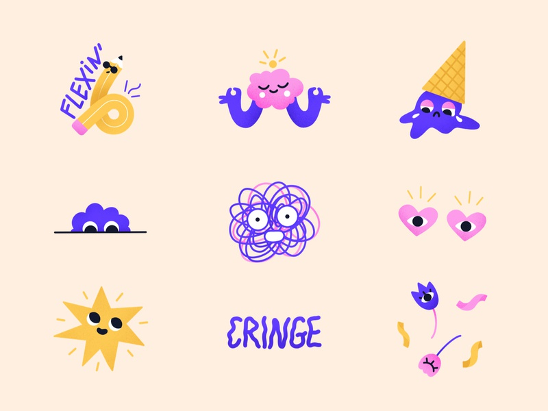 WEIRDOS | Stickerpack for Snapchat cheeky quirky snapchat stickers stickerpack illustration characters weird