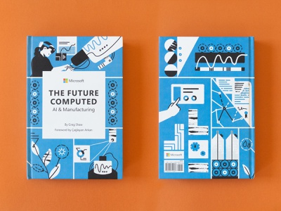 The Future Computed: AI and Manufacturing | Book Illustrations minimalist illustration illustrator graphicdesign editorial illustration book cover print book illustration