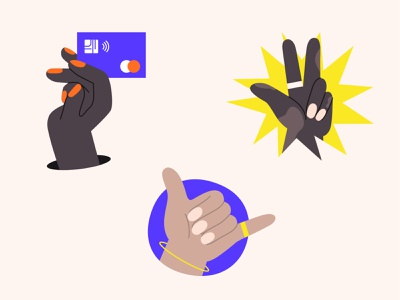 MAJORITY Hands   Illustration Style Exploration marketing illustration style product illustration success product app ui fintech illustration fintech call me by your name peace swag illustration hands
