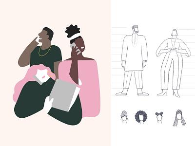 Majority Character Exploration | Brand Illustrations immigrants diversity fintech characterdesign illustration process illustration style brand illustration illustrator product illustration character illustration
