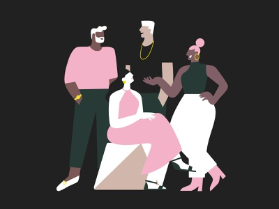 Find your community ✨ human woman brand illustration illustration style bold colors flat illustration vector illustration 2d illustration process marketing community party bar friends networking humans characters character illustration