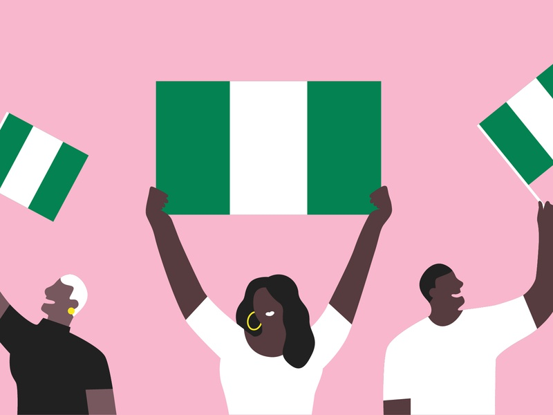 New Country Available 🇳🇬 nigeria african american bold fintech email illustration flag country flat illustrator diversity character illustration