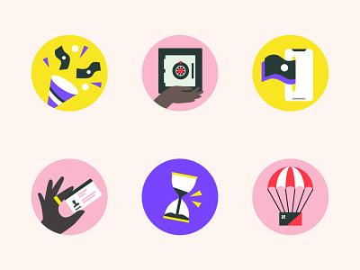 Fintech Spot Illustrations marketing startup illustrations finance fintech big icons spot illustrastions