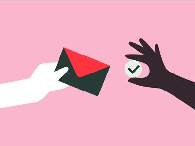 Verify Your Email 📬 diversity online bank bank finance cash email marketing email design spot illustration money transfer checkmark product illustration verify email verification email hands illustration