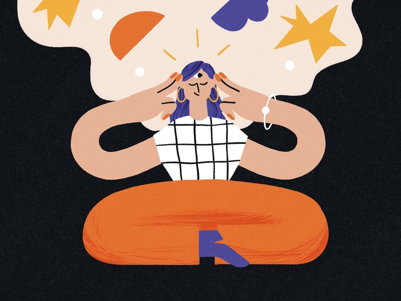 'Proactively' Finding New Commissions ✨ fortuneteller future universe creative process dream character meditation visualization strategy idea generation brainstorming creative illustration
