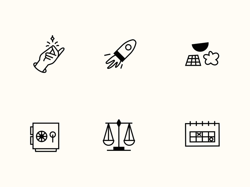 Icons ✨ iconset marketing fintech pay later loans banking finance custom icons brand illustration black and white stroke icons minimalist flat illustrator about spot illustrations icons
