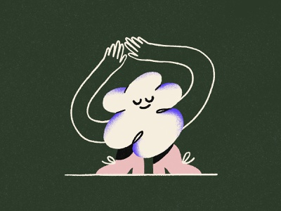 A happy cloud ☁️ hand drawn illustration style cloud happy funny procreate quirky character design illustration character