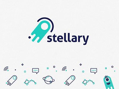 Stellary Agency | Logo & Pattern stroke pattern logo branding agency cosmos stellar