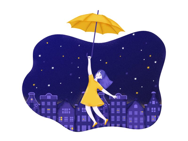 Girl umbrella texture small