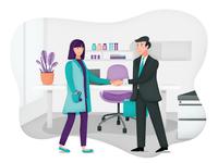 Marketing tool for Healthcare   Website illustration