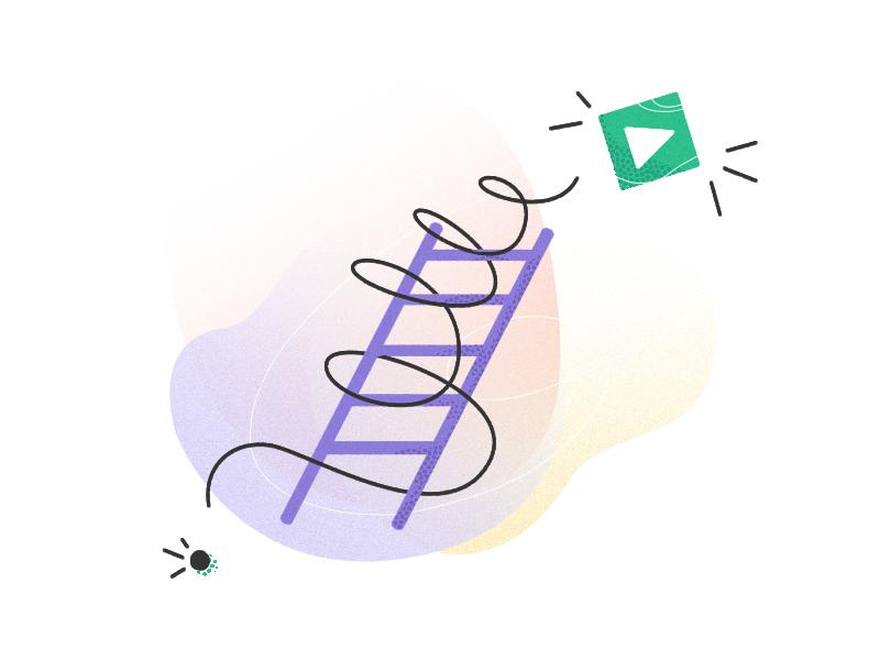 Creative process launch release success filmmaking metaphor idea ladder process video creative