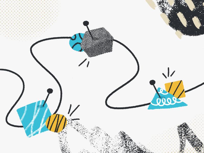 Plan! illustration pastels abstract planning