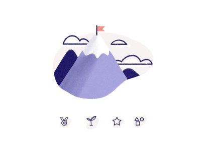 Goals Spot Illustration and Icons