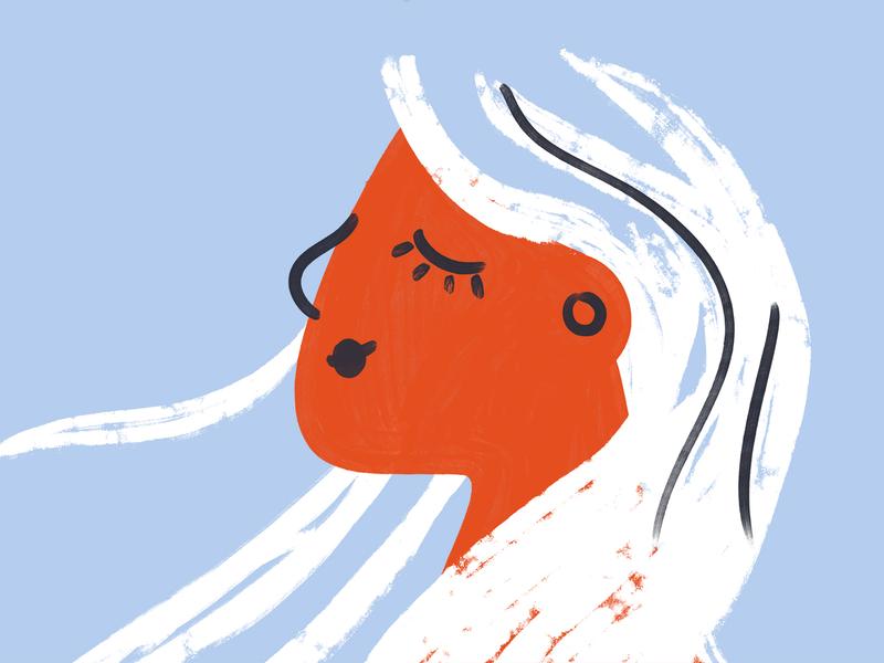 Faith portrait art face girl abstract brushy adobe 2d paintbrush texture illustrator character woman illustration