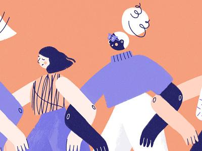 Girls, Girls women character designs womens day editorial illustrator girl character woman illustration