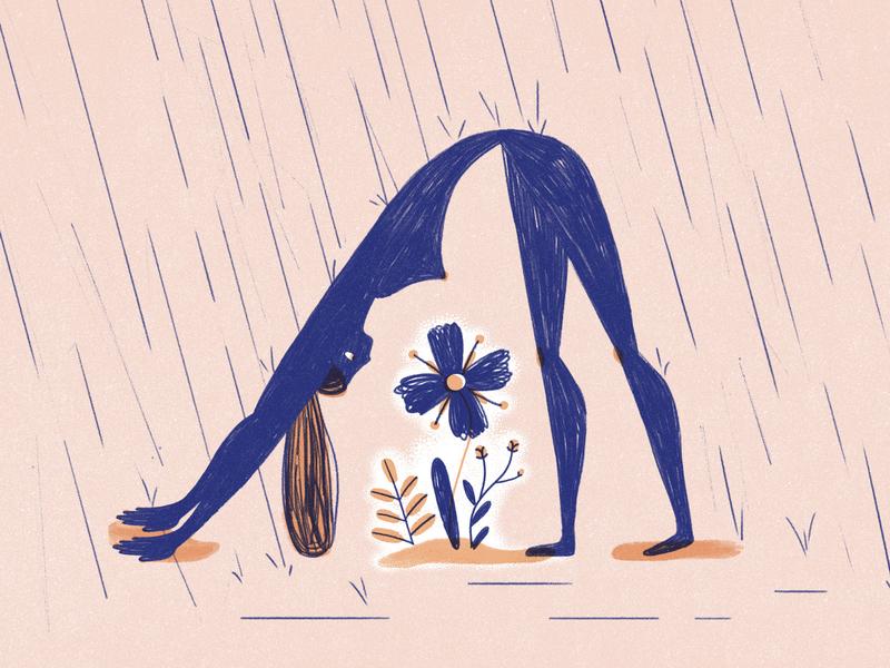 Overprotective girl woman sketchy flowers pencil illustration illustration protective overprotective character