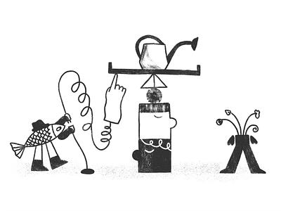 Reaction Chain 👉 reaction chain reaction fish sketch sketchy editorial illustrator illustration