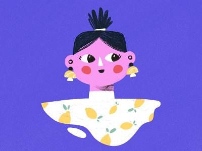 Lemons 🍋 sticker print lemons illustrator girl character illustration