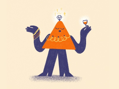 The Connoisseur 💎 illustrator abstract character quirky character character design marketing connoisseur character illustration