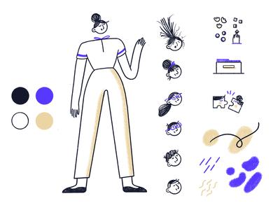 Brand Illustration Style for Folk App
