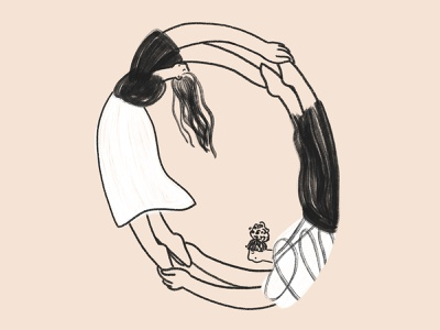 Account Sync ✨ editorial app illustration account sync sync empower illustrator product illustration woman character illustration