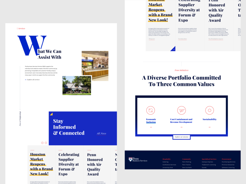 Penn Business Services - Homepage web design web layout graphic design design typography