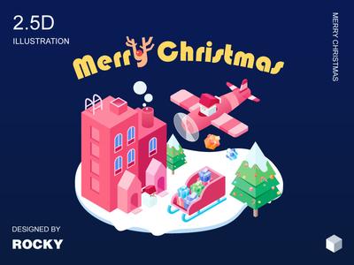 2.5D illustration of Christmas