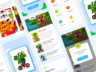 Read time ui kids kid k12 icon function demo app
