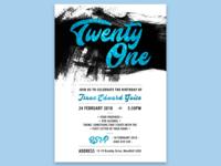 21st Invitation #1