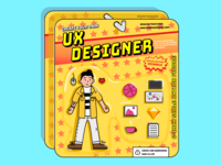 UX Designer Toy from 80's