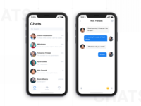 the chat interface