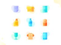 icon design  - Environmental recovery machine