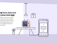Illustration and interaction for mobile bootcamp L page