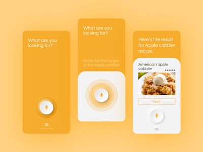 DAILY UI 022 - SEARCH dailyui22 daily 100 challenge neon food app ui food apps food app searching search search page orange vocal assistant vocal neomorphism app design ui ux ui design daily ui dailyui ui design