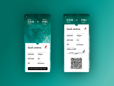 DAILY UI 24 - BOARDING PASS ticket travel ui airports airplane travel app sea dailyui24 qrcode travel trip boardingpass airport boarding pass boarding app design ui design daily ui ui dailyui design