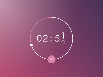 DAILY UI 014 - COUNTDOWN TIMER graphic time pure simple color timer countdown timer countdowntimer countdown ui design daily ui dailyui ui design