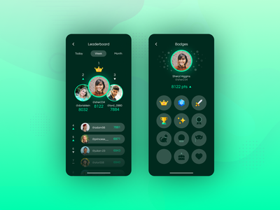 DAILY UI 019 - LEADERBOARD ranking profile podium creative leader games game design badges leaderboards game leaderboard app design app ui ux ux ui design daily ui dailyui ui design