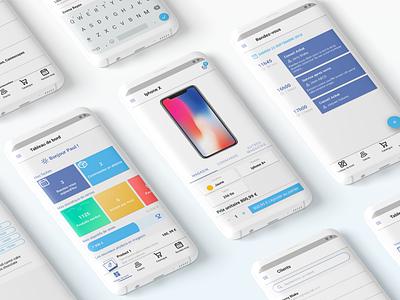 App Design : Saler tool tool saler payment sales mobile app apps retailer ux ui inspiration flat design app app design android