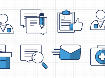 Icon set for doctor web-service healthcare health doctor graphic icon design icon set iconography branding illustration vector inspiration design flat ui icon