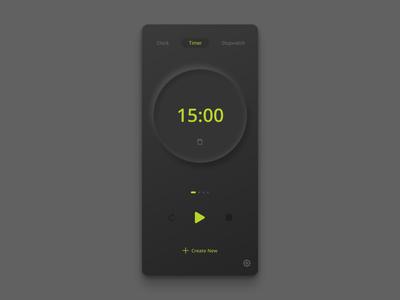 Timer App - Dark UI