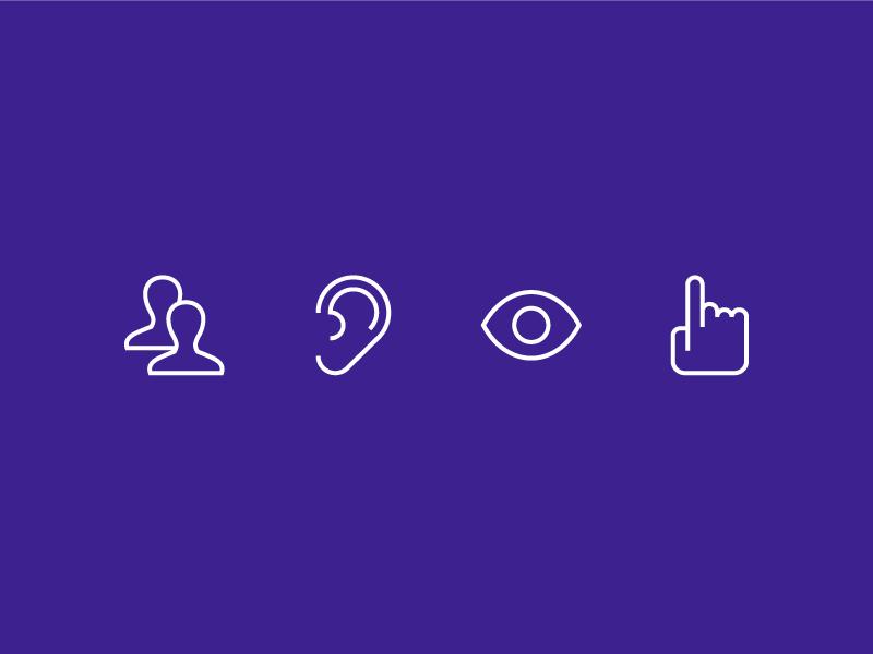 Learning Styles kinesthetic visual auditory collaborative styles style learning learn icons icon